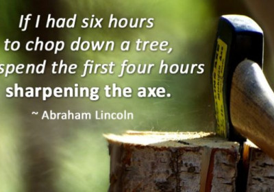 Sharpen the Axe#