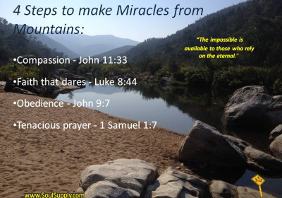 4 Steps in Reaching for a Miracle
